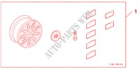 ALLOY WHEEL 17 X 7,0JJ für Honda Auto CIVIC 1.8 BASE 5 Türen 5 gang automatikgetriebe 2009
