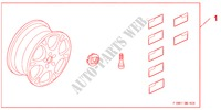 ALLOY WHEEL 17 X 7,0JJEPSILON für Honda Auto CIVIC 1.8 BASE 5 Türen 5 gang automatikgetriebe 2009