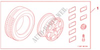 COMPLETE WHEELS 17 X 7,0 JJ   EPSILON für Honda Auto CIVIC 1.8 BASE 5 Türen 5 gang automatikgetriebe 2009
