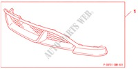 FRONT & REAR SKIRT TANGERINE ORANGE M für Honda Auto CIVIC 1.8 BASE 5 Türen 5 gang automatikgetriebe 2009