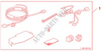 HDD NAVI ATTACHMENT   LHD für Honda Auto CIVIC 1.8 BASE 5 Türen 5 gang automatikgetriebe 2009