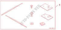 SIDE SKIRTS ALABASTER SILVER METALLIC für Honda Auto CIVIC 1.8 BASE 5 Türen 5 gang automatikgetriebe 2009