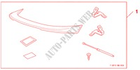 TRUNK SPOILER PRIMED für Honda Auto CIVIC 1.8 BASE 5 Türen 5 gang automatikgetriebe 2009